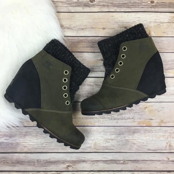 Sorel Shoes Joanie Sweater Ankle Boot Wedge Waterproof Poshmark